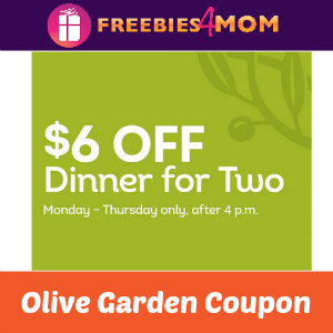 $6 Off Dinner for Two at Olive Garden