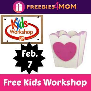 Free Kids Workshop at Home Depot Feb. 7