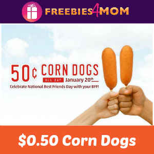 $0.50 Corn Dogs at Sonic Jan. 20