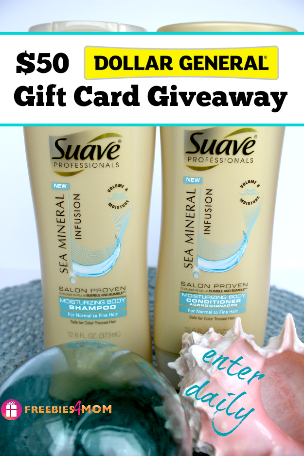 $50 Dollar General Gift Card Giveaway ~ Beautiful Hair with Suave Sea Minerals