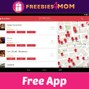 Free iTunes & Android App: OpenTable