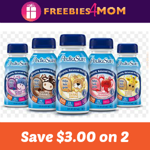 Coupon: Save $3.00 on 2 PediaSure