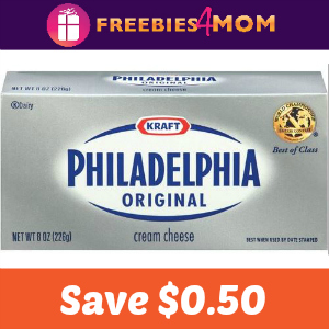 Save $0.50 on Philadelphia Cream Cheese