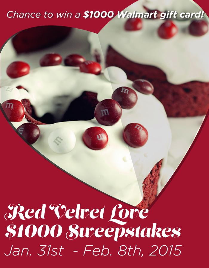 #RedVelvetLove $1000 Sweepstakes