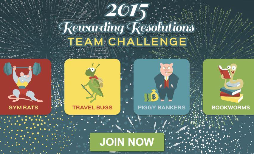 Swagbucks 2015 Rewarding Resolutions Team Challenge