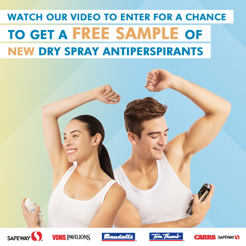 Free Sample Dry Spray Antiperspirant