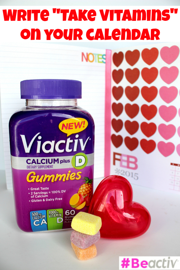 Write Take Vitamins on Your Calendar
