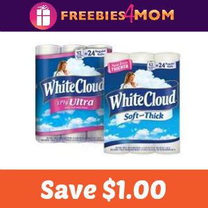 Coupon: Save $1.00 on White Cloud Bath Tissue