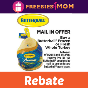 Rebate: Buy a Butterball Turkey, Get 5 Coupons