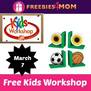 Free Kids Workshop at Home Depot March 7