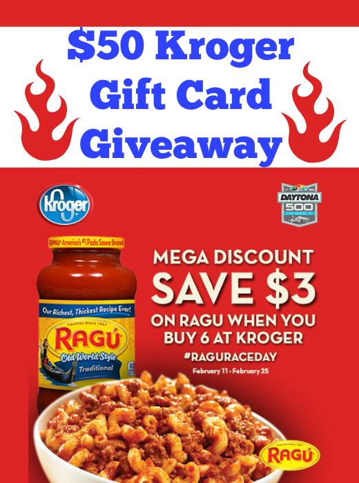 $50 Kroger Gift Card Giveaway ~ Save on Ragu at Kroger Mega Event