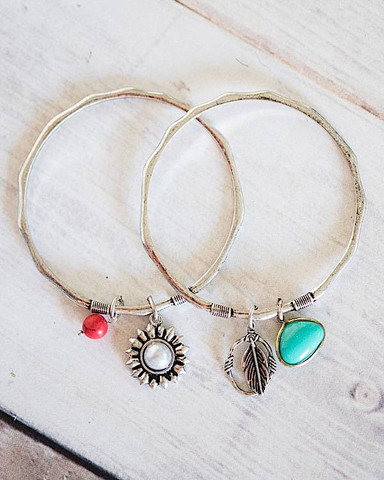 $9.99 Charm Bangle Bracelet with Free Shipping