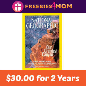 National Geographic $1.25 per Issue