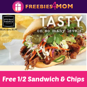 Free 1/2 Sandwich & Chips at Corner Bakery Cafe