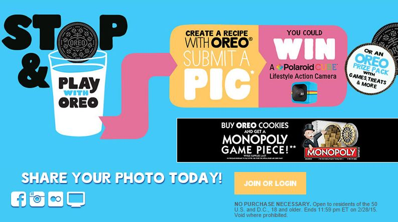 Enter the Stop & Play with OREO Sweepstakes