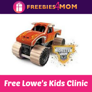 Free Monster Jam Lowe's Kids Clinic