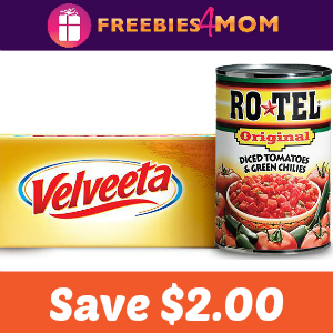 Coupon: Save $2.00 on One Velveeta & 2 Ro-Tel