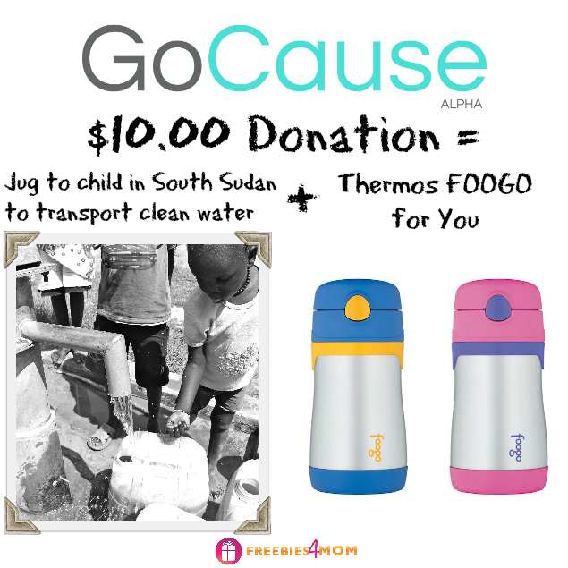 Donate $10, Get Thermos FOOGO Stainless Steel Straw Bottle ($18 value)