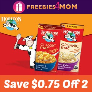 Coupon: Save $0.75 off 2 Horizon Mac & Cheese