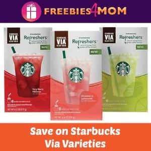 Coupons: Save on Starbucks Via Varieties