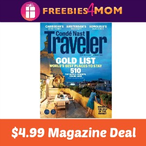 Magazine Deal: Conde Nast Traveler $4.99