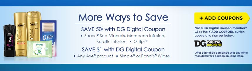 DG Digital Coupons for Suave