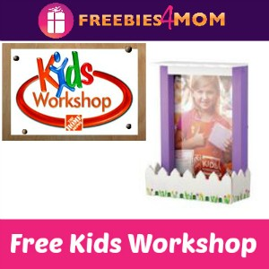 Free Kids Workshop at Home Depot May 2