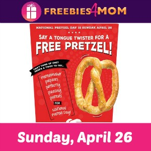 Free Pretzel at Pretzelmaker Sunday