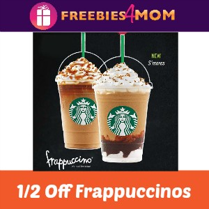 Starbucks 1/2 Off Frappuccinos Starts Friday