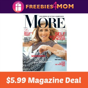 Magazine Deal: More $5.99
