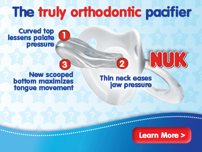 The truly orthodontic pacifier by NUK