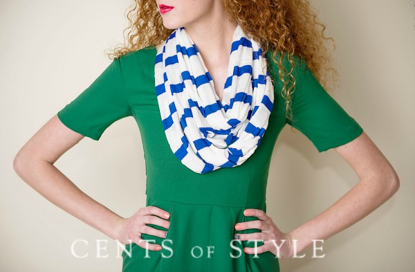 Striped Infinity Scarves $7.95 + Free Shipping