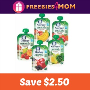 Coupon: Save $2.50 Off 8 Gerber Organic Pouches