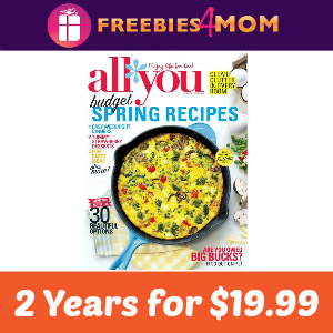 Magazine Deal: All You 2 years for $19.99