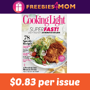 Magazine Deal: Cooking Light $19.99 (2 years)