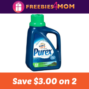 Coupon: Save $3.00 off 2 Purex Detergent