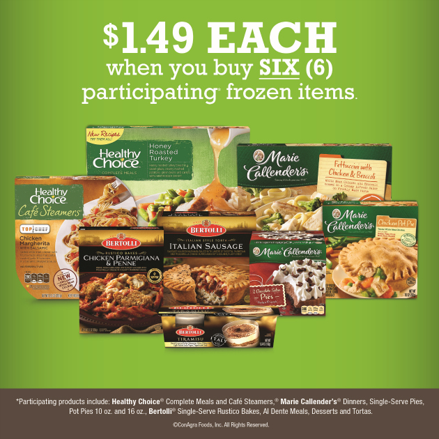 Frozen Meals as low as $1.49 at Kroger