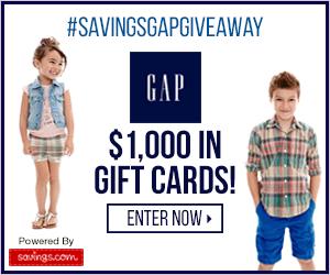 Win a $50 GAP Gift Card (20 winners)
