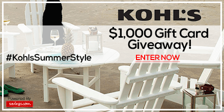 Win a $50 Kohl's Gift Card (20 winners)