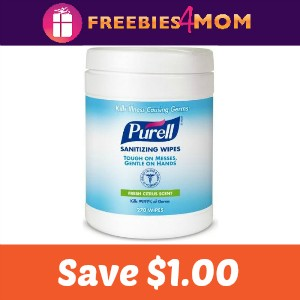 Coupon: Save $1.00 off Purell Canister Wipes