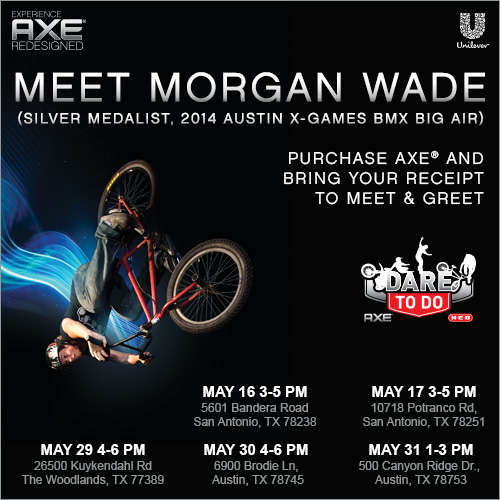 Meet Morgan Wade at H-E-B AXE Dare To Do Event