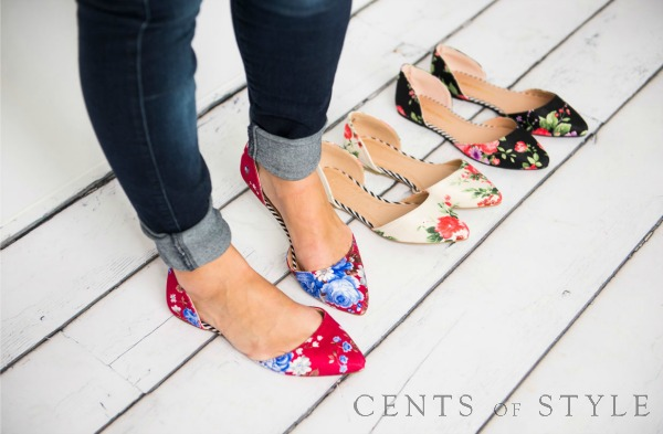 Floral Flats 40% Off + Free Shipping