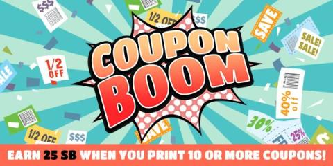 Print 10 Coupons, Earn 25 Swag Bucks