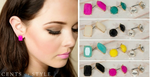 $7.95 Set of 3 Stud Earrings (+Scarf Deal)
