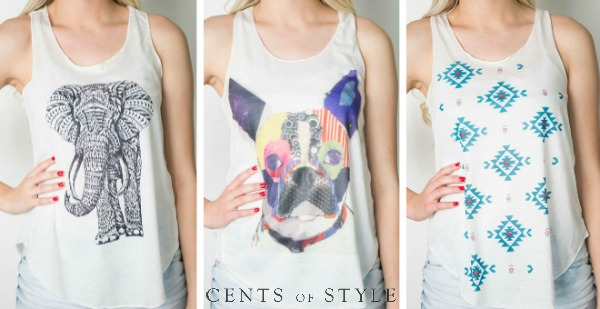 $12.95 Summer Tanks (+ Scarf Deal)