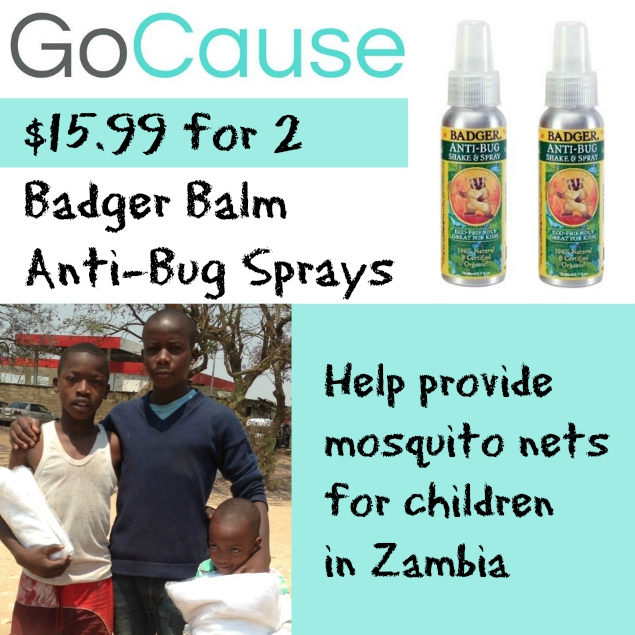GoCause Deal: $15.99 for 2 Badger Balm Anti-Bug Sprays