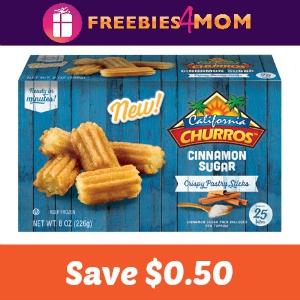 Save $0.50 on California Churros Bites