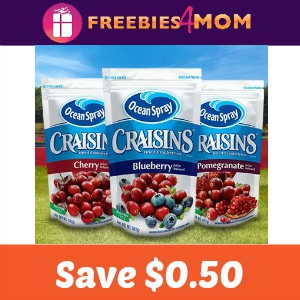 Coupon: Save $0.50 off Craisins varieties