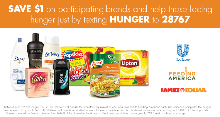 Family Dollar Coupons & Feeding America