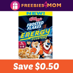 $0.50 off Frosted Flakes with Energy Clusters